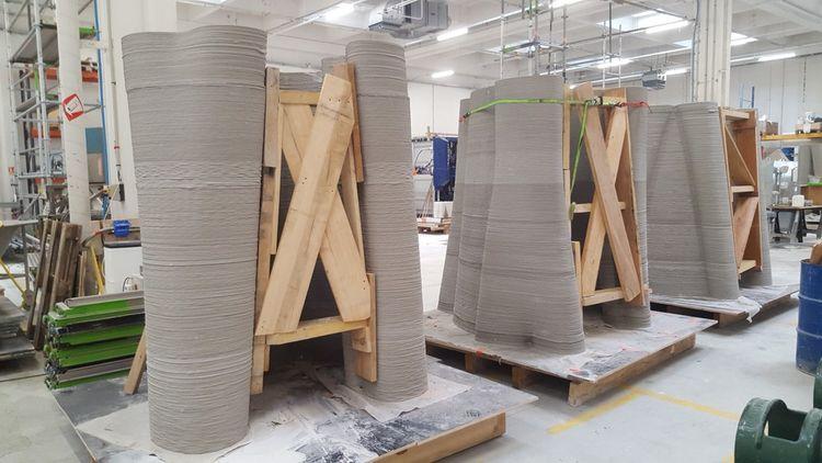 Commandées par l'entreprise martiniquaise d'infrastructures télécoms Art & Fact Innovation, ces pièces seront assemblées sur site en Guadeloupe pour former un pylône télécoms de 12 mètres en forme de tronc d'arbre qui sera végétalisé.