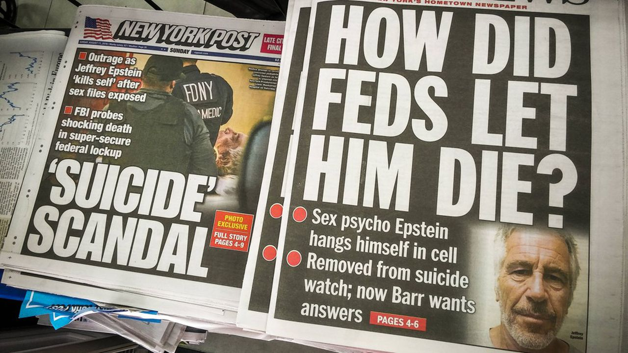 Le tabloïd «New York Post » s'interroge sur les circonstances de la mort de Jeffrey Epstein.