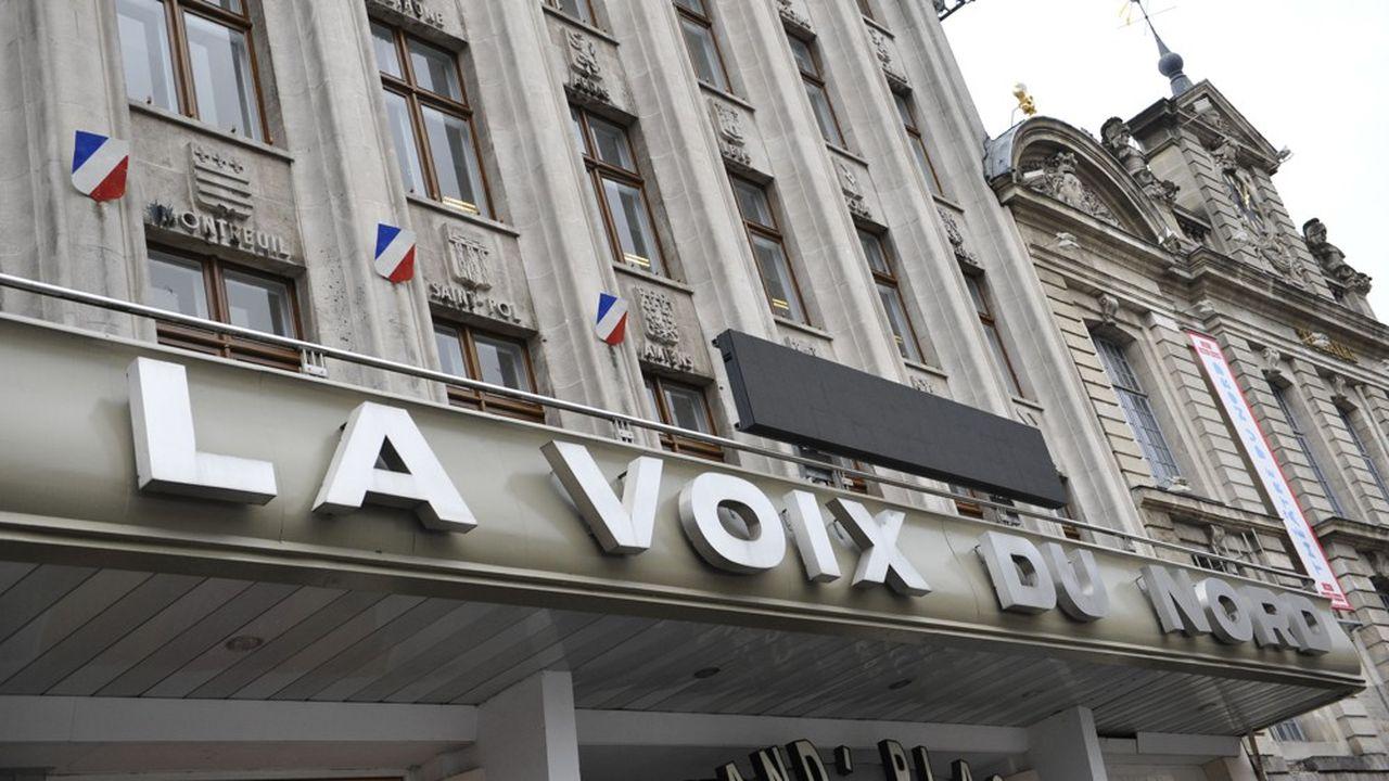Le groupe «La Voix du Nord», à Lille.