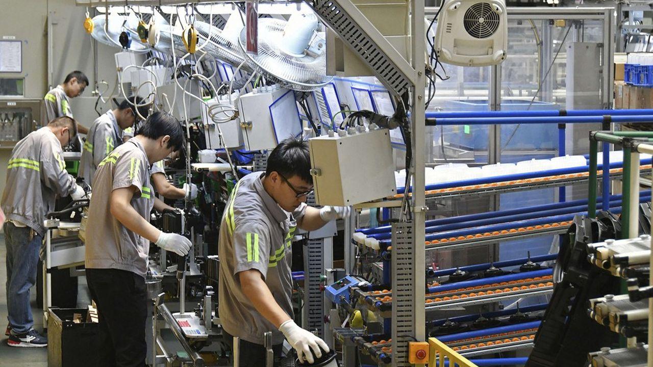 L'activité dans le seul secteur manufacturier n'a progressé que de 4,5 % en juillet sur un an, contre 6,2 % un mois plutôt.