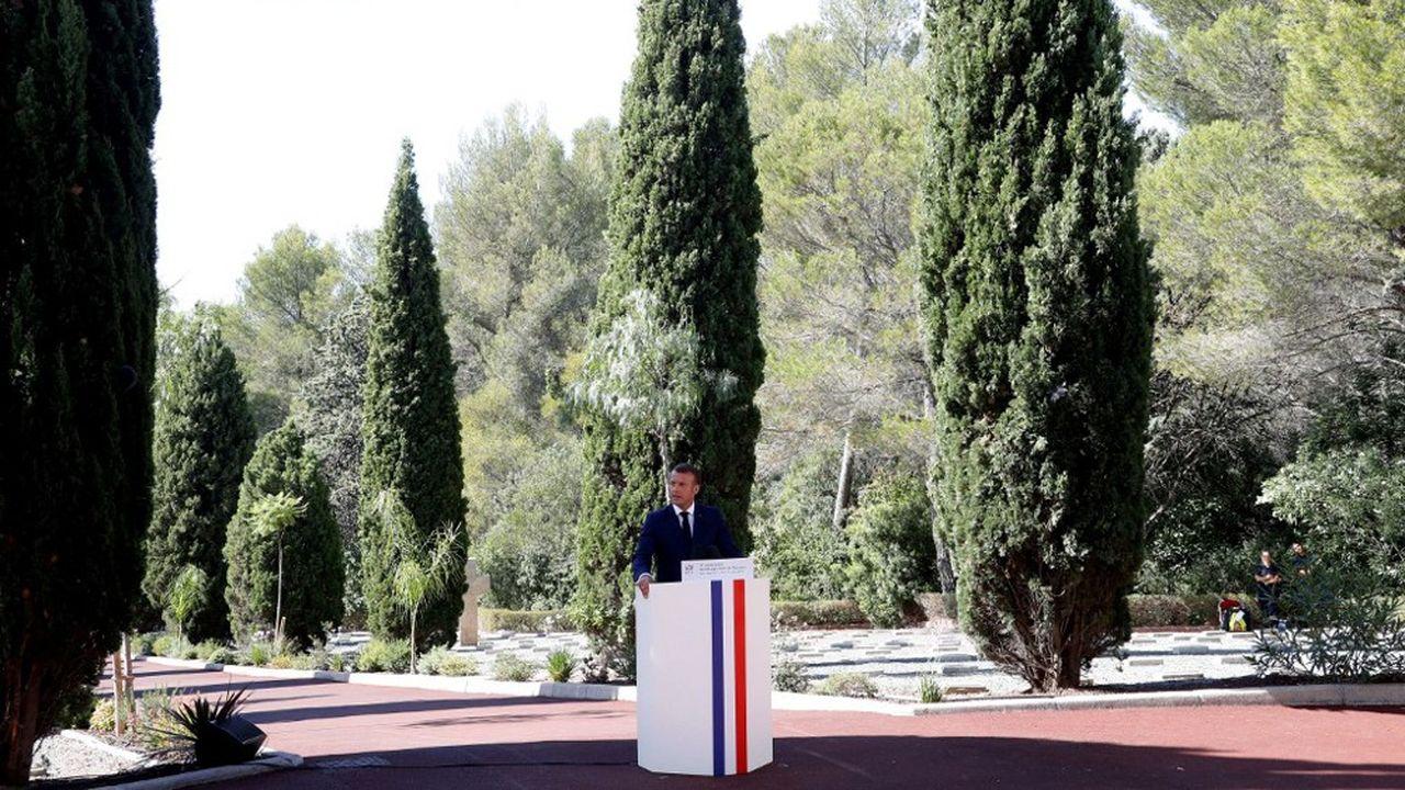 Emmanuel Macron à Saint-Raphael, le 15août 2019