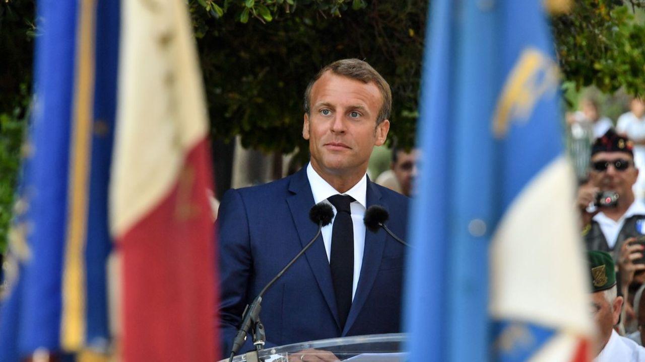 A Bormes-les-Mimosas, le président de la République a beaucoup insisté sur l'urgence de «réconcilier les Français qui s'opposent».