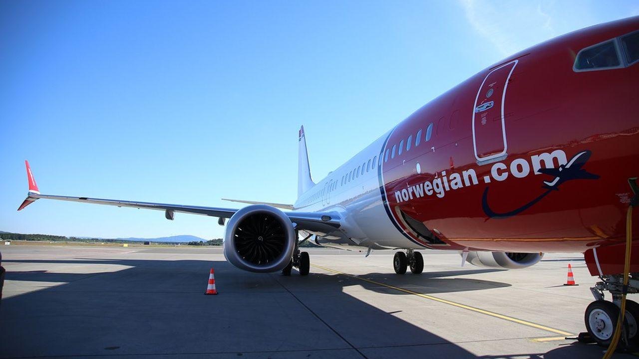Norwegian possède environ 170 appareils, dont 18 Boeing 737 Max, actuellement suspendus de vol après les accidents mortels d'octobre2018 et mars2019.