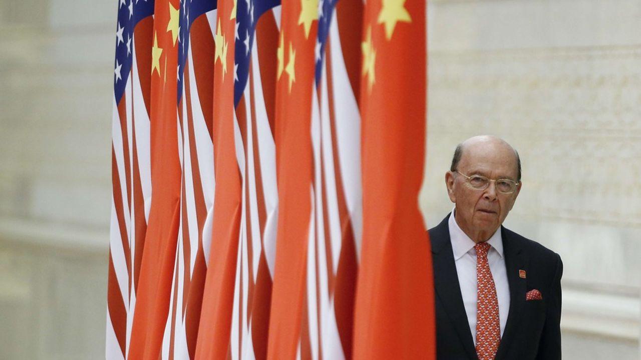 Wilbur Ross, le secrétaire d'Etat américain au Commerce, en 2017 à Pékin.