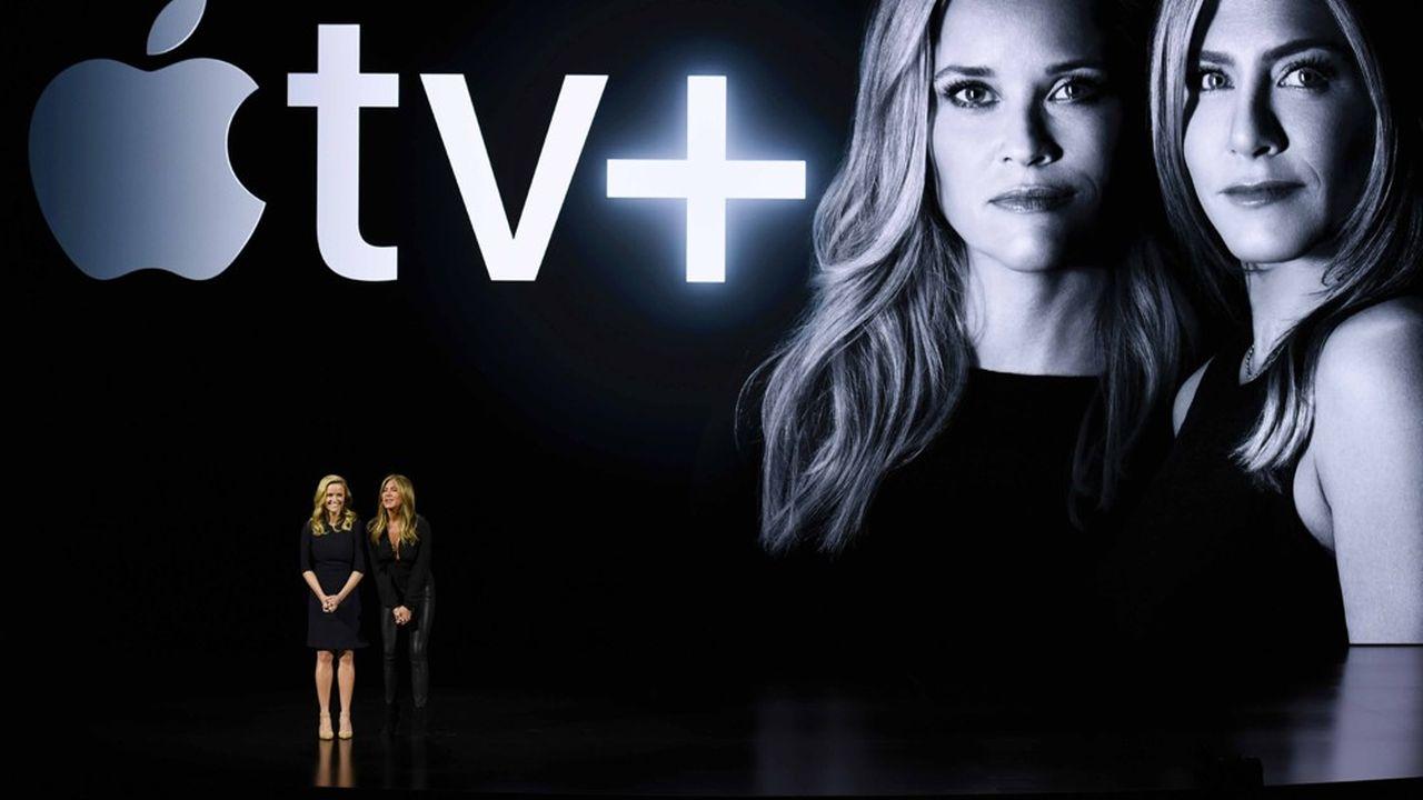 La série «The Morning Show», qui réunit les vedettes américaines Jennifer Aniston (à droite) et Reese Witherspoon, pourrait battre tous les records en termes de budget