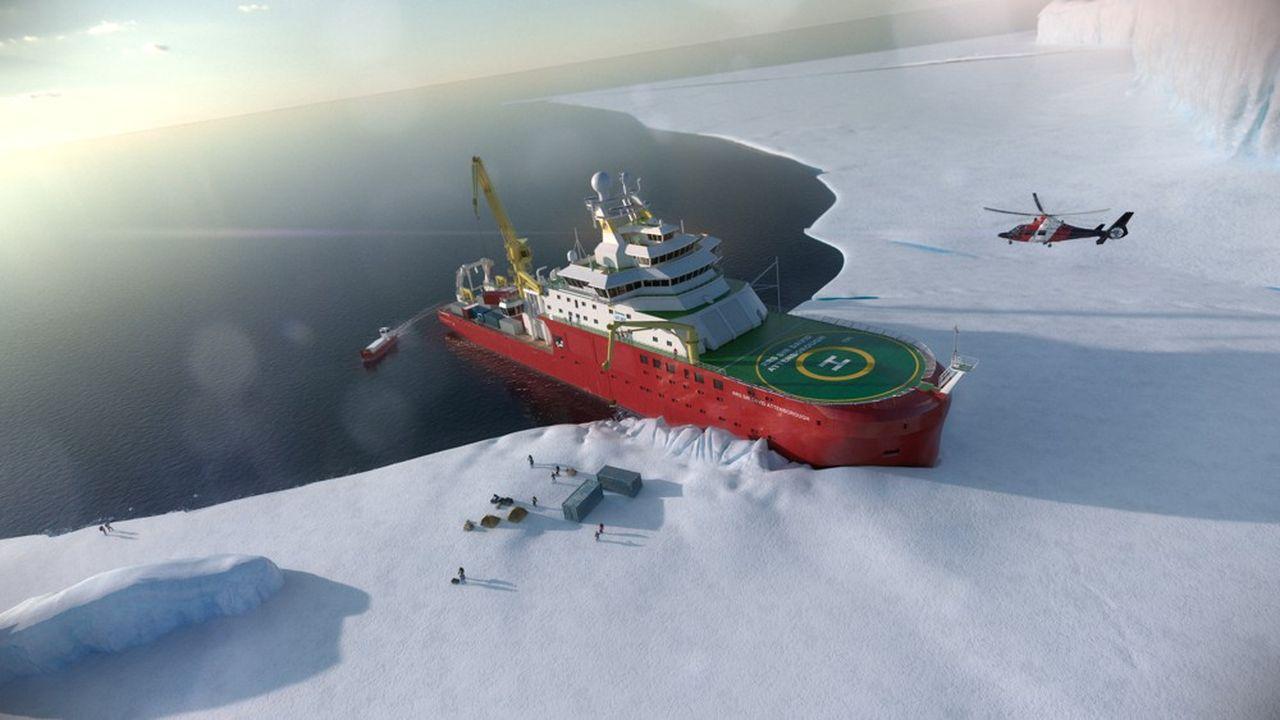 A l'image du prochain navire de recherche britannique « David Attenborough », de nombreux bâtiments neufs passent à l'hybridation.