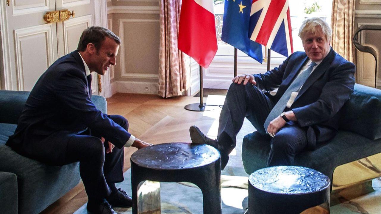 Emmanuel Macron a accueilli à l'Elysée le chef du gouvernement britannique, Boris Johnson, pour la première tournée internationale de ce dernier depuis son arrivée au pouvoir en juillet.