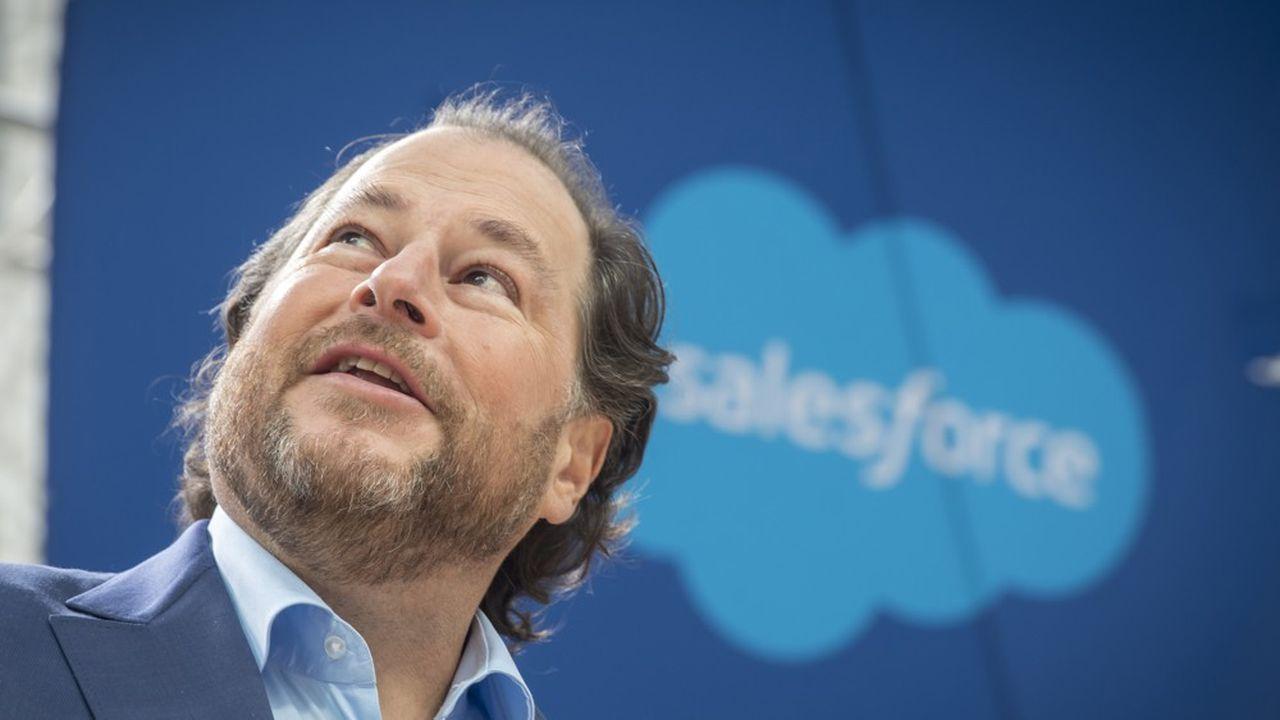 Marc Benioff, le PDG de Salesforce, signe maintenant des chèques en milliards de dollars.