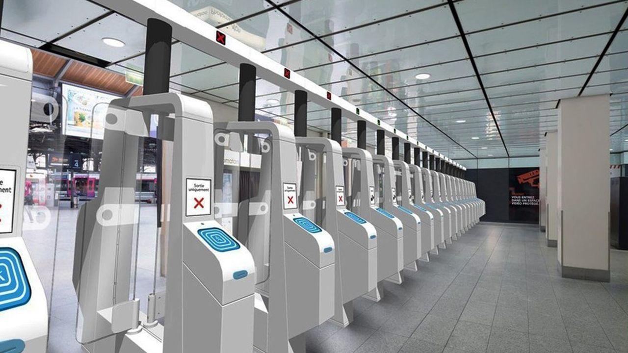 Ce nouvel équipement doit permettre entre 35 et 40 passages par minute, « contre 21 avec les portiques actuels dans les autres gares », indique la SNCF.