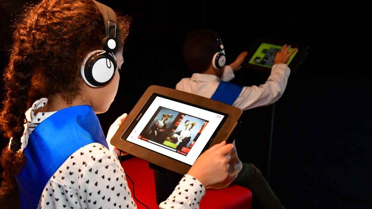 Dans chaque Micro-Folie, chaque enfant peut se constituer son musée numérique.