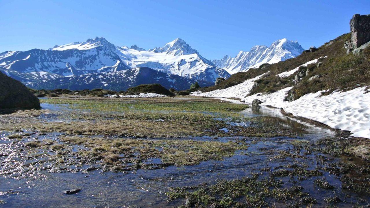 Certains itinéraires sont de moins en moins enneigés en période estivale.