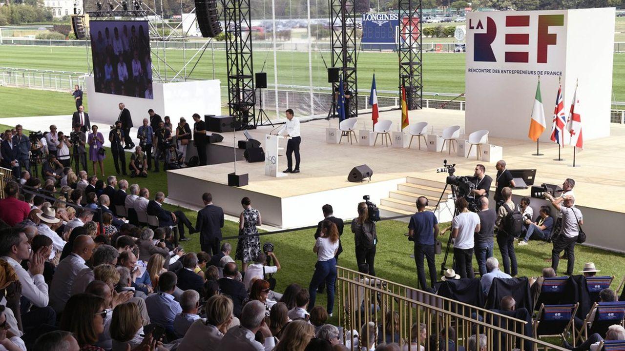 L'université du Medef, qui a lieu cette année à l'hippodrome de Longchamp, a été renommée Rencontre des entrepreneurs de France.