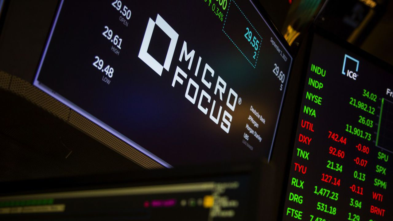 En une séance, Micro Focus a perdu 30% de sa valeur en Bourse, jeudi 29août.