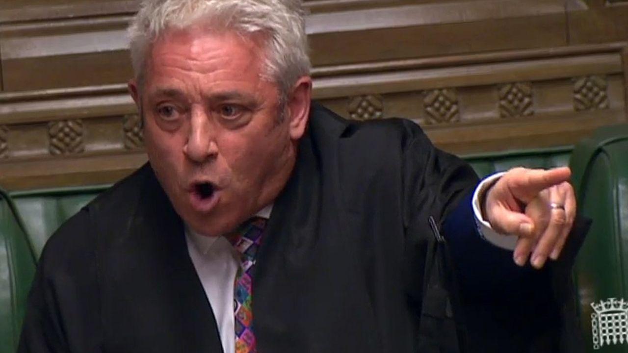 Le speaker de la chambre des Communes, John Bercow, a qualifié la semaine dernière la suspension du Parlement de «scandale constitutionnel».