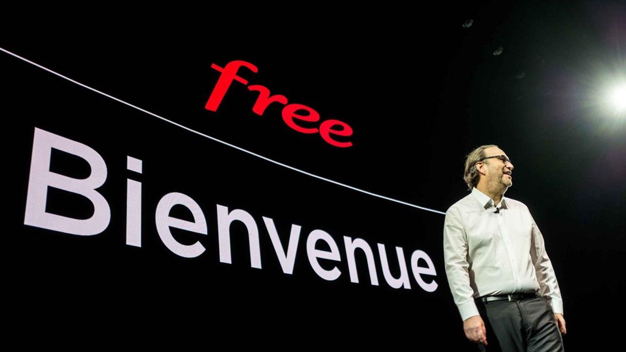 Xavier Niel, le fondateur de Free, mise sur la montée engamme pour renouer avec le succès