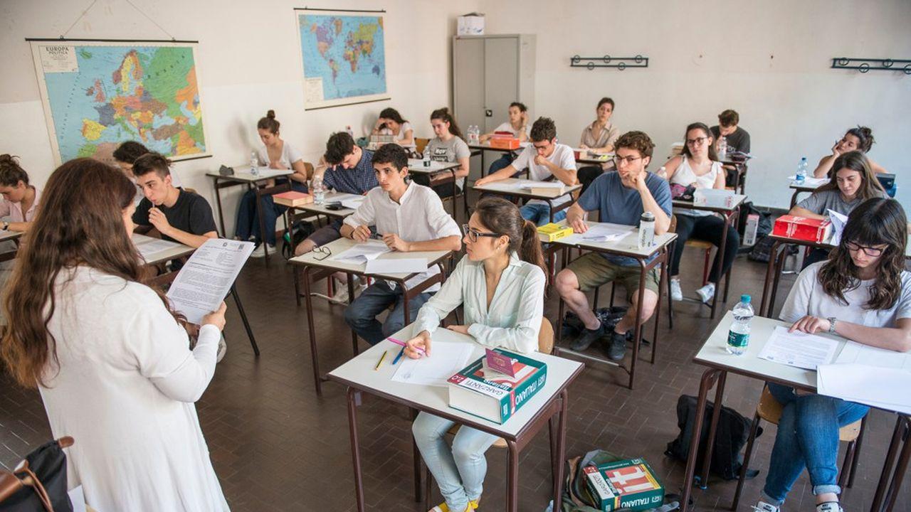 Les écoliers et étudiants italiens seront dans dix ans 1,3million de moins qu'aujourd'hui en raison de la crise démographique