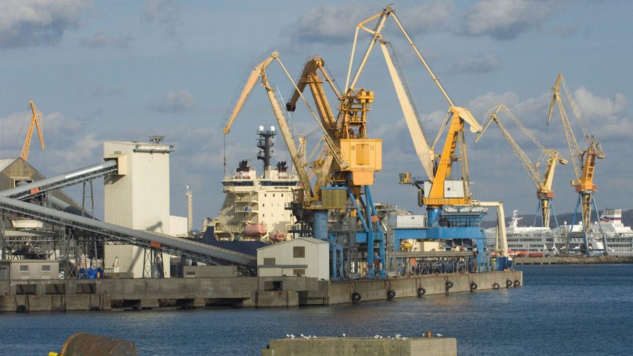 Les activités du port de commerce de Brest sont très liées à l'agriculture