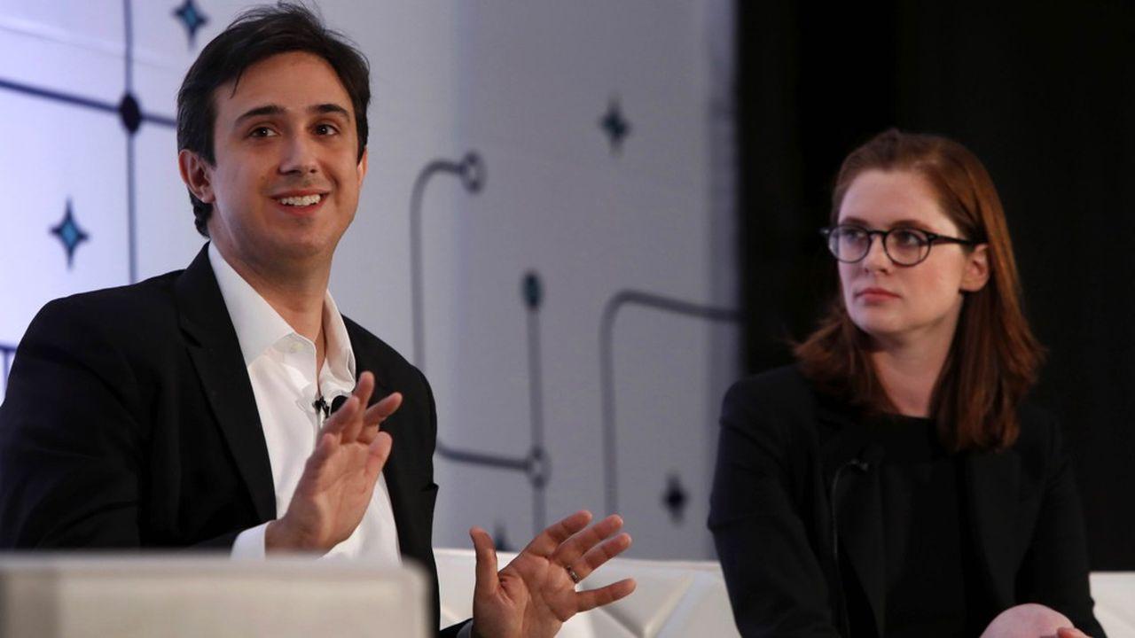 Le fondateur de Tezos, Arthur Breitman, et sa femme, Kathleen Breitman, lors d'une conférence à Las Vegas en 2017.