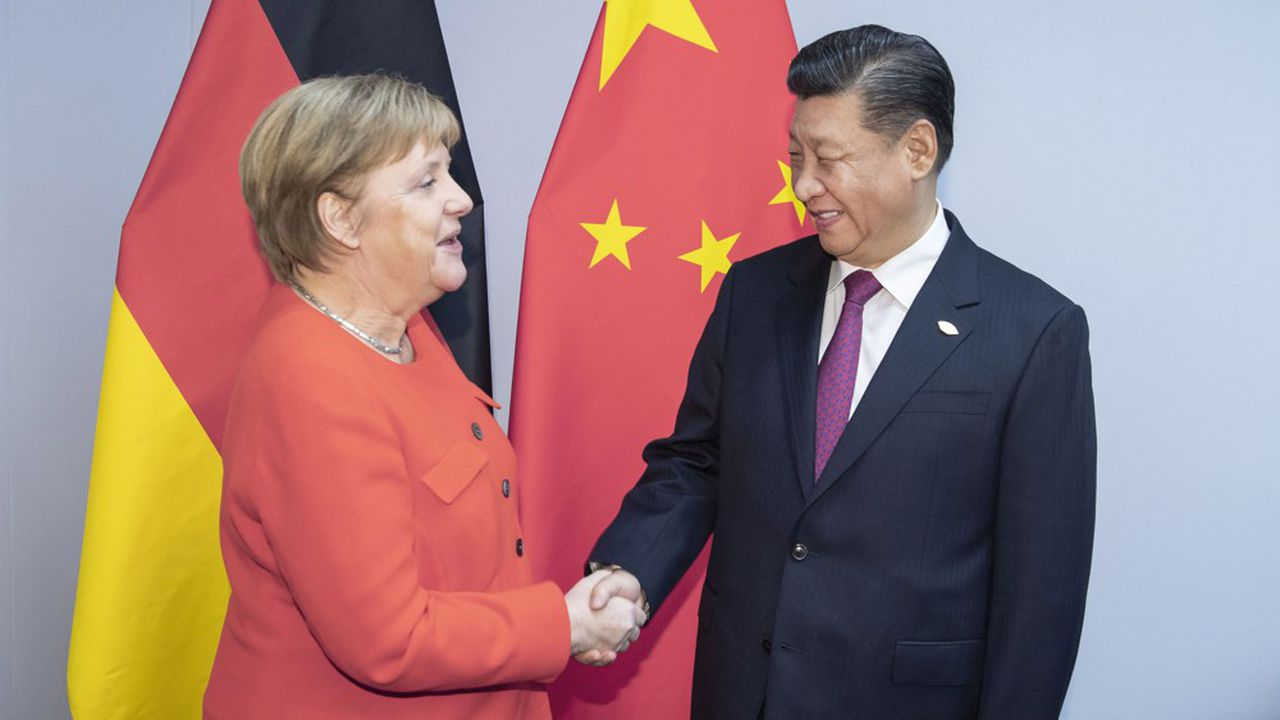 Angela Merkel doit dîner en compagnie du président chinois Xi Jinpingvendredi soir.