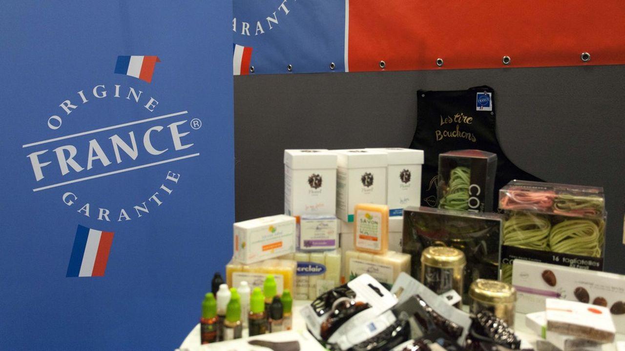 Des produits labellisés «Origine France Garantie» lors du Salon Made in France de novembre2014 à Paris.
