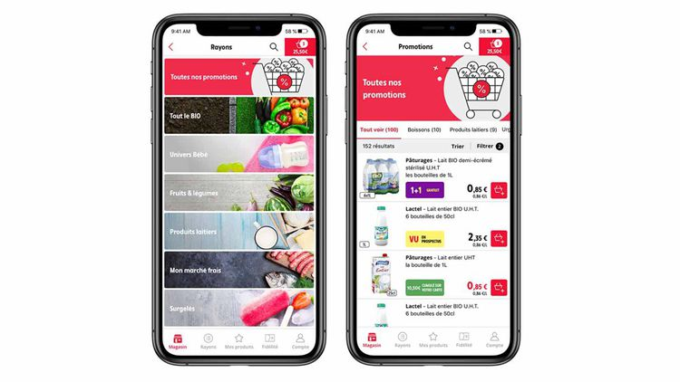 Via les enceintes ou le smartphone, Intermarché propose à ses clients aussi bien de faire leurs achats jusqu'à la finalisation de leur commande que de consulter ses avantages de fidélité ou de trouver des idées de recettes.