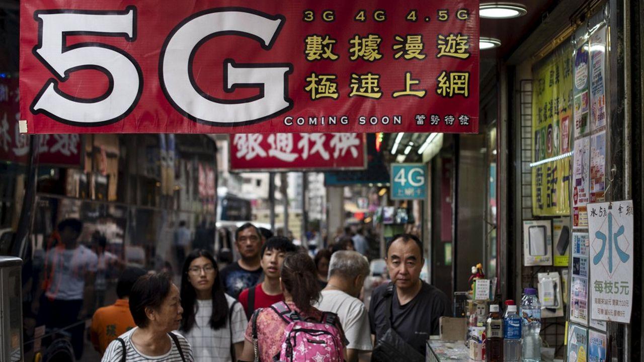 Plus de 50villes chinoises doivent être couvertes en 5G dès cette année.