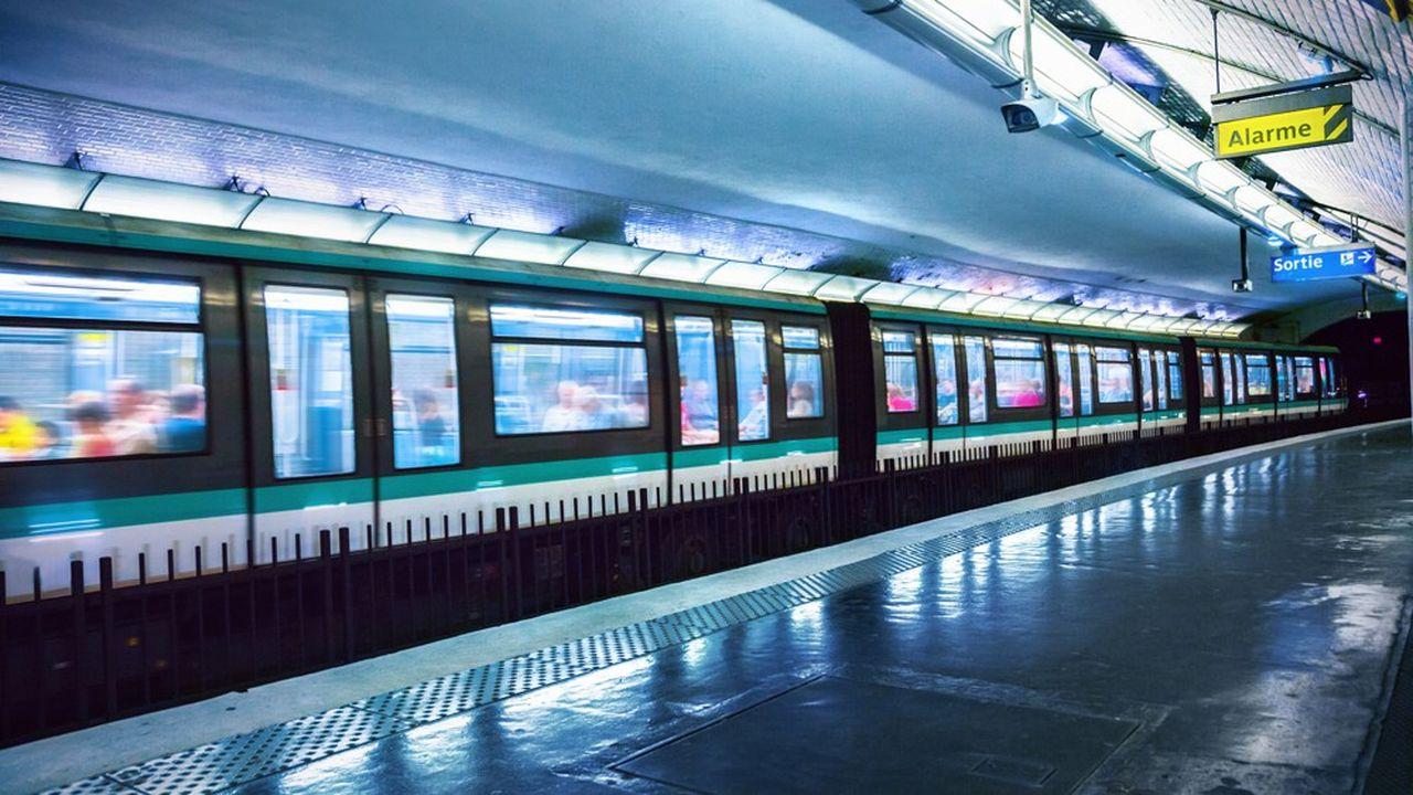 Les lignes du métro parisien 1, 2, 5, 6, 9 et 14 vont fonctionner dans la nuit du samedi au dimanche une fois par mois pendant six mois.