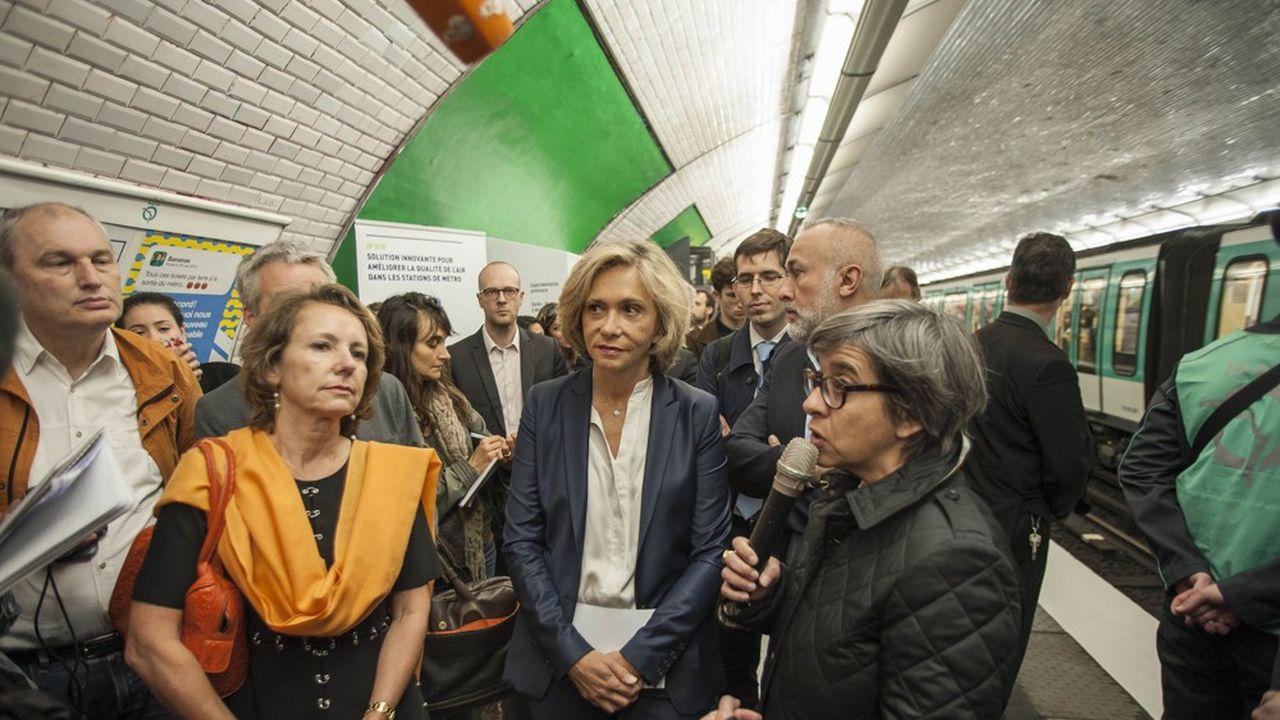 La présidente d'Île-de-France, Valérie Pécresse, réclame un service garanti à 100% aux heures de pointe.