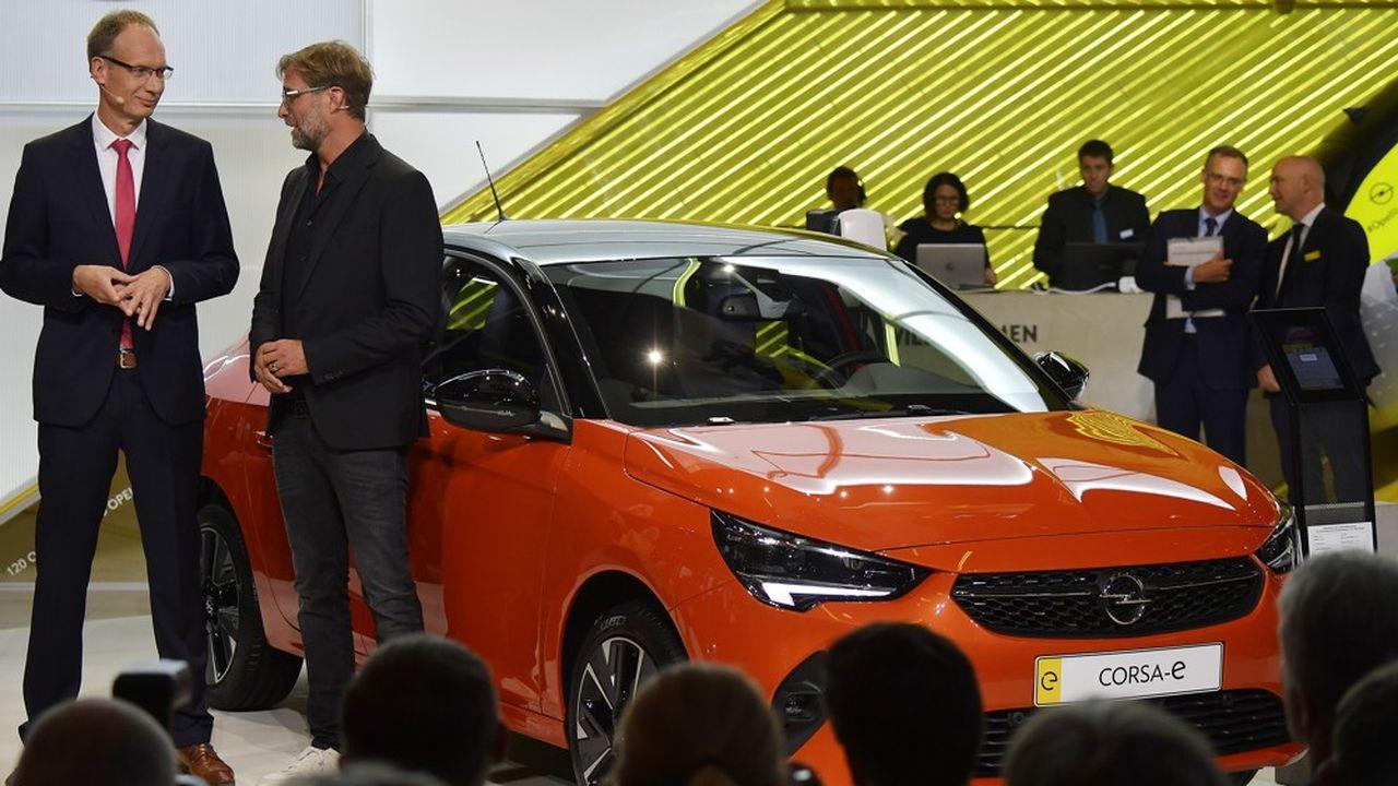Michael Lohscheller, le DG d'Opel, a présenté la sixième génération de l'Opel Corsa au Salon de Francfort cette semaine.
