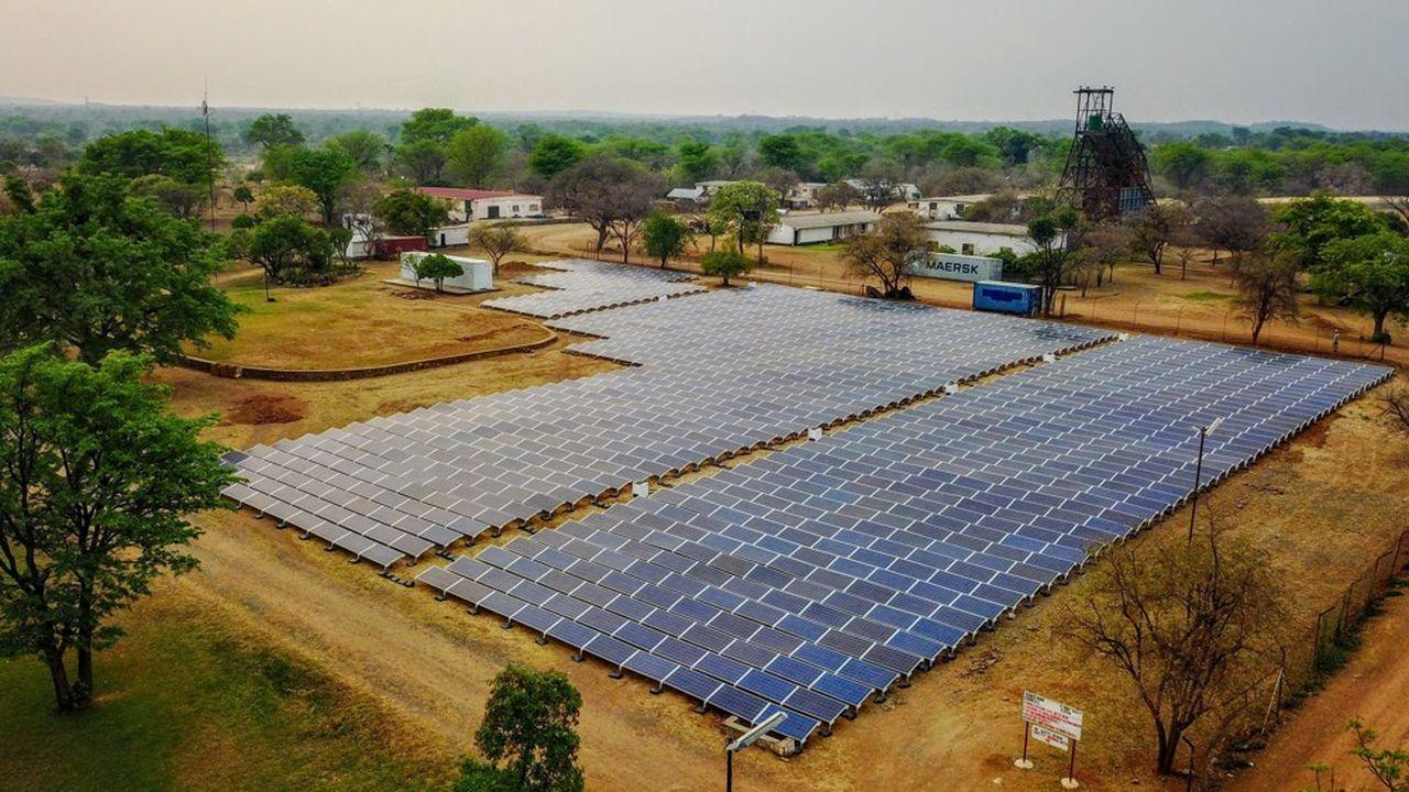 Une ferme solaire au Zimbabwe.