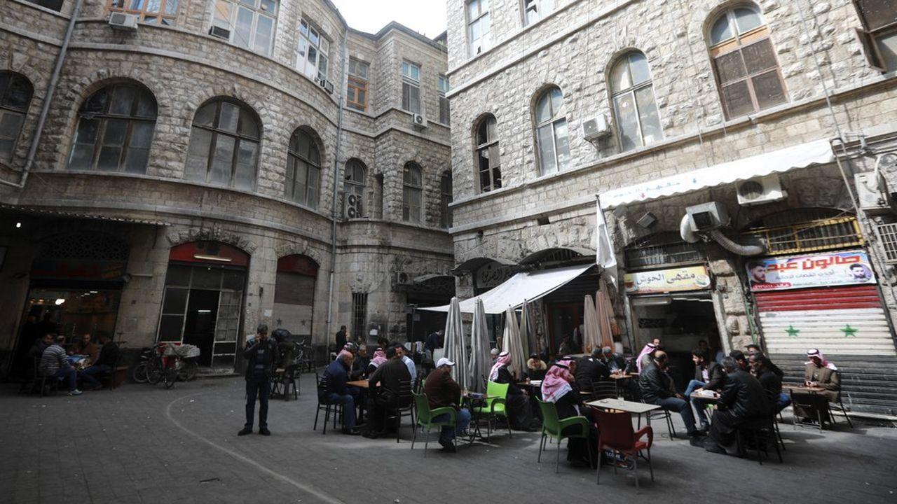 Marja Square, quartier du centre de la capitale syrienne, Damas.