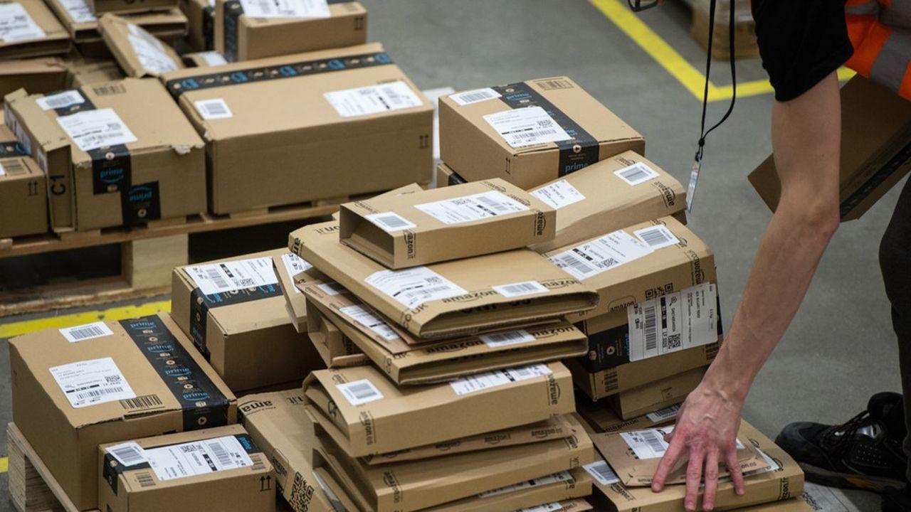 Amazon totalise 20,3% de part du marché des ventes en ligne de produits physiques en France, selon Kantar.