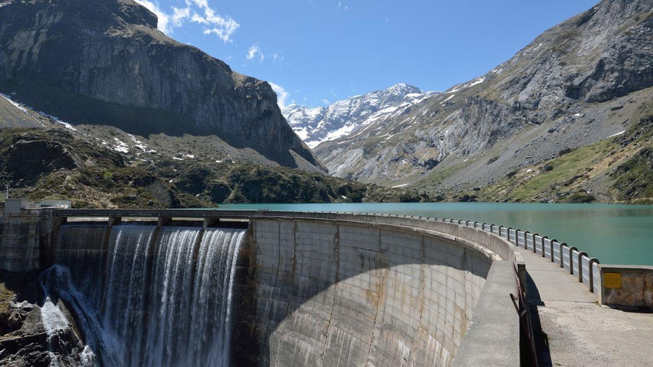 Le barrage des Gloriettes, dans les Hautes-Pyrénées.
