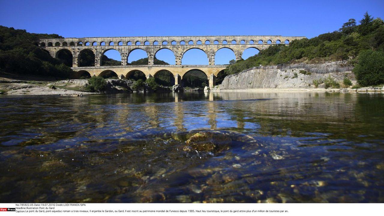 Le pont du Gard est inscrit au patrimoine mondial de l'unesco depuis 1985.
