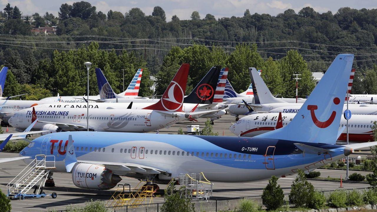 Une dizaine de Boeing 737 Max sont cloués au sol à Seattle, le 15août 2019