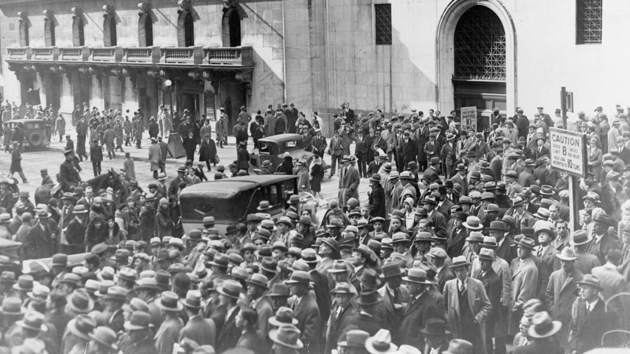 La bourse de New York après le krach d'octobre1929