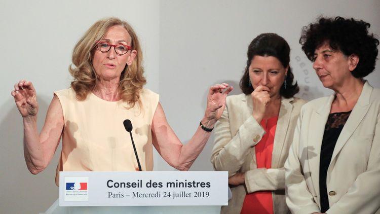 De gauche droite, les trois ministres qui portent le projet de loi sur la bioéthique: Nicole Belloubet (Justice), Agnès Buzyn (Santé) et Frédérique Vidal (Recherche).