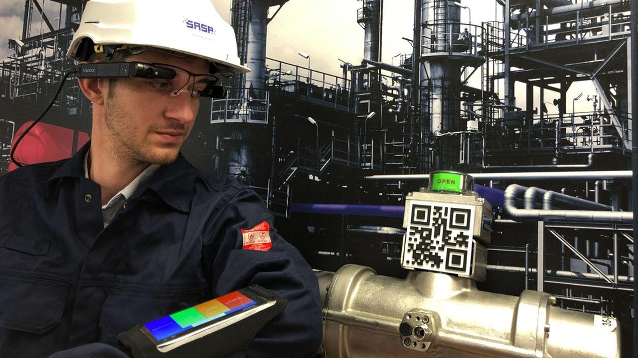 Les lunettes connectées de SASP permettent descanner différents équipementsdotés de QR Codes.