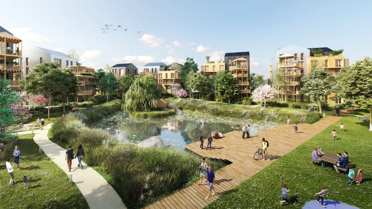 Le futur aménagement du site Louis Lumière à Noisy-le-Grand (projet non définitif).