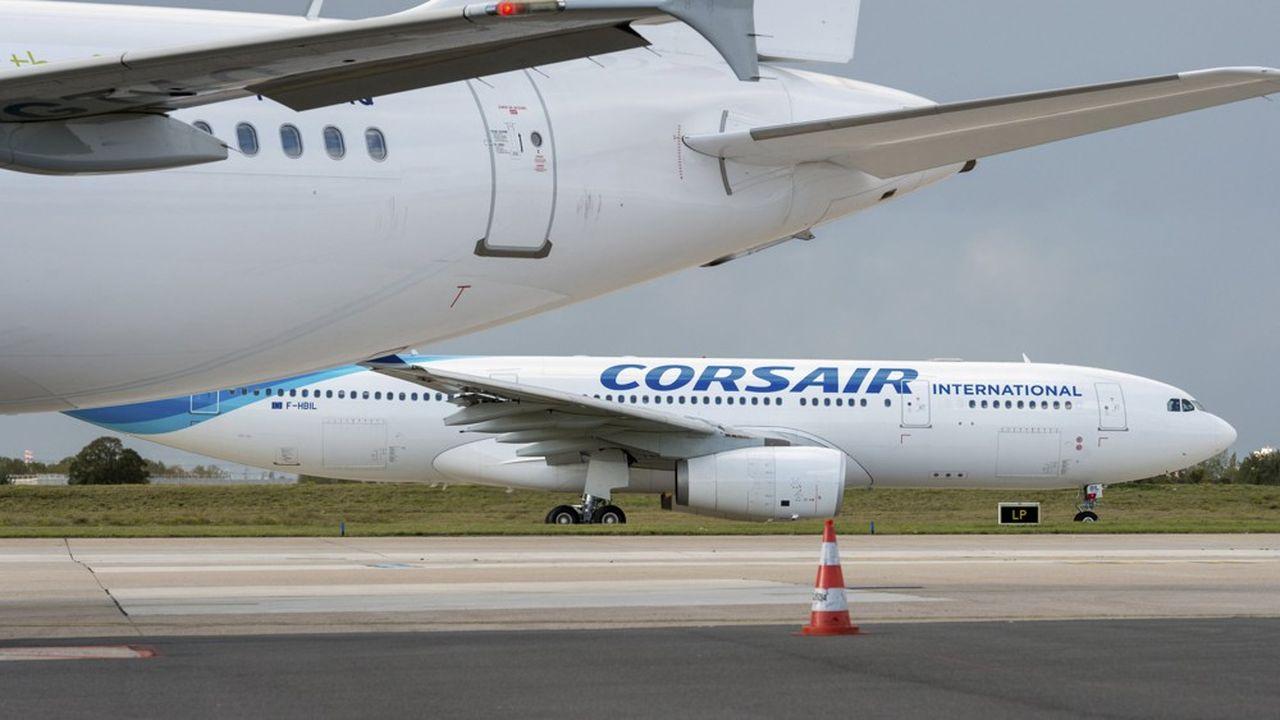 Un Airbus A330-200 de Corsair. A terme, la compagnie aura une flotte entièrement composée d'Airbus A330, mais d'un modèle plus récent.
