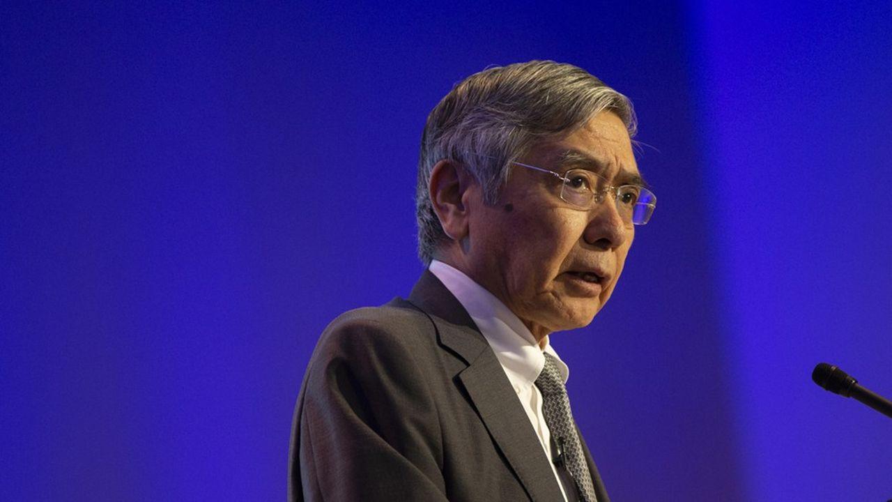 La banque centrale japonaise a enclenché, depuis 2013, un gigantesque programme d'assouplissement quantitatif (photo: Haruhiko Kuroda, le gouverneur)