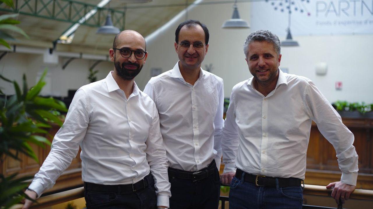 De gauche à droite: Chaker Nakhli, Marc Tempelman et Cyril Garbois, les trois cofondateurs de Cashbee.