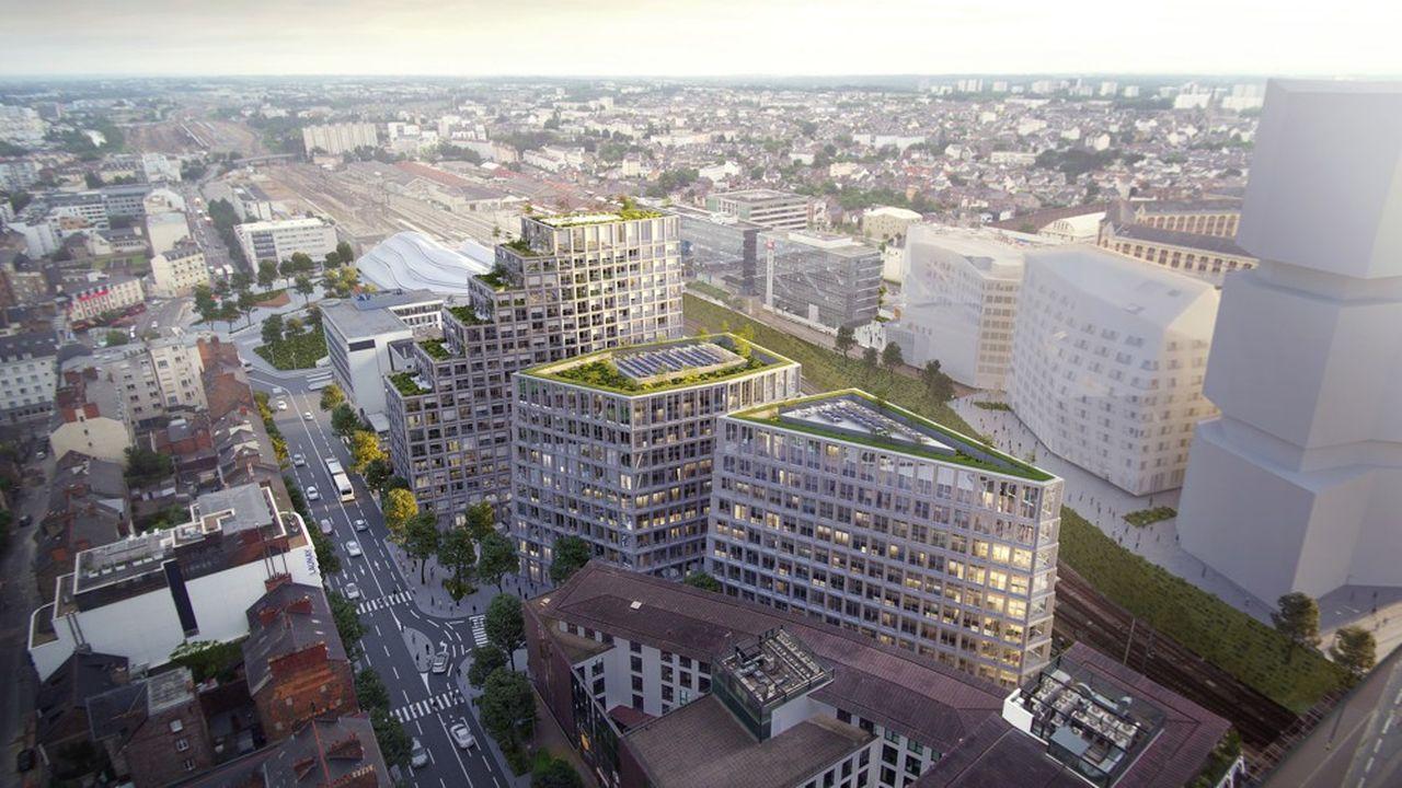 Parmis les projets à l'agenda de SNCF Immobilier, les travaux de construction qui commenceront en 2020 sur le site de l'îlot Beaumont, à Rennes.