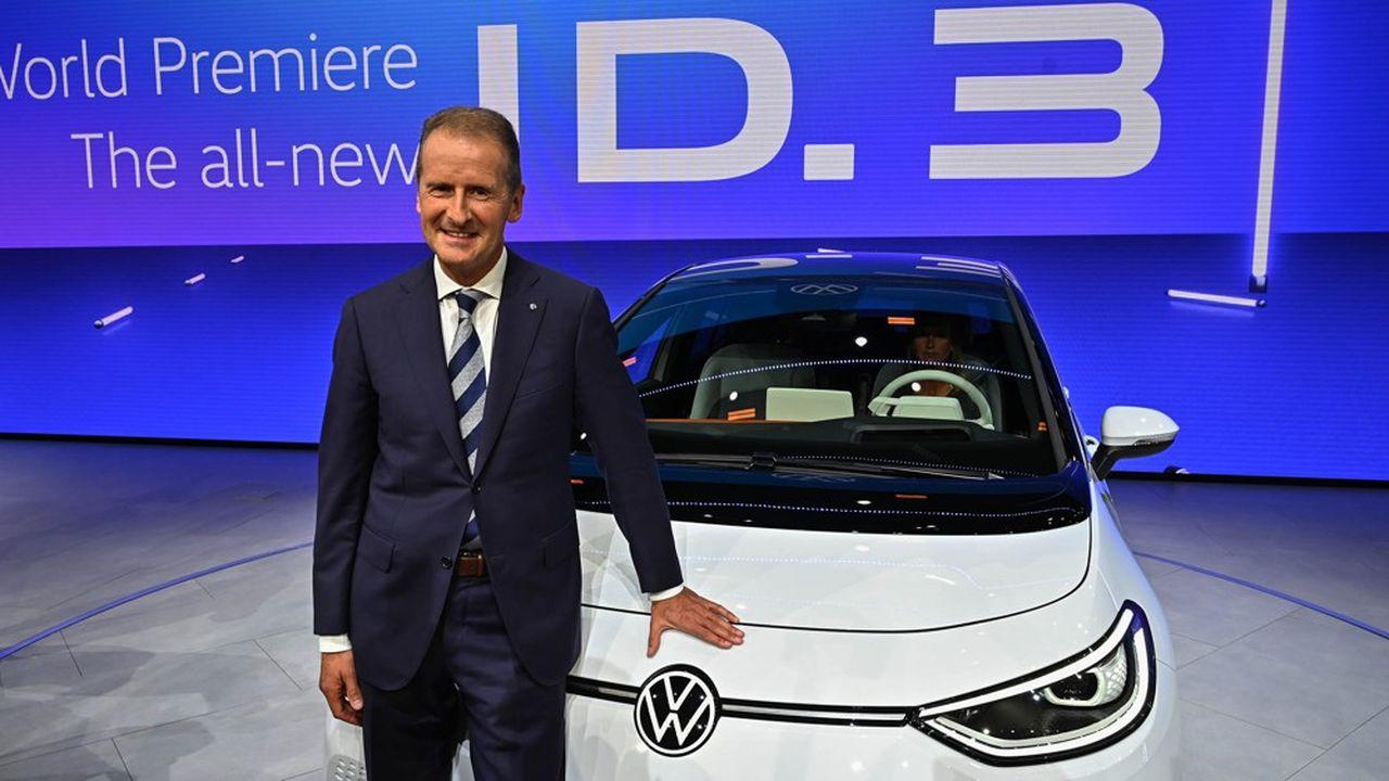 Herbert Diess, le PDG de Volkswagen, a présenté la première citadine électrique de la marque, l'ID3, à Francfort il y a quelques jours.