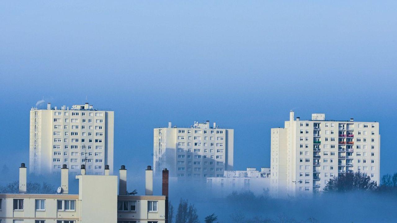 Immeubles HLM d'habitation du quartier de Champvert.