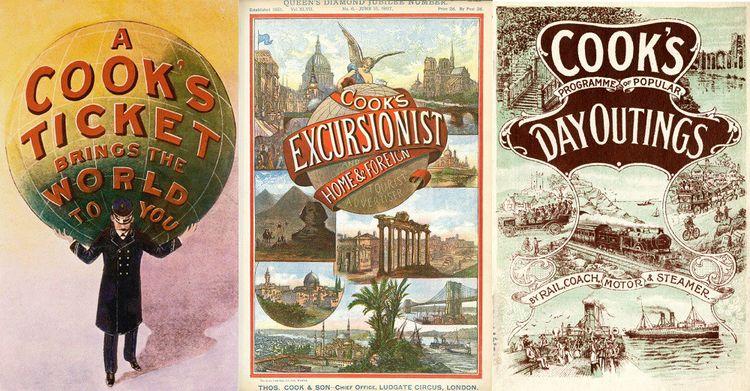 L'agence Thomas Cook produit de nombreuses brochures promotionnelles pour ses voyages.