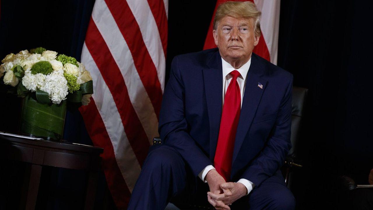 Le président américain, Donald Trump, a fait une brève apparition surprise au sommet sur le climat à New York, lundi. Sans pour autant y faire des annonces.