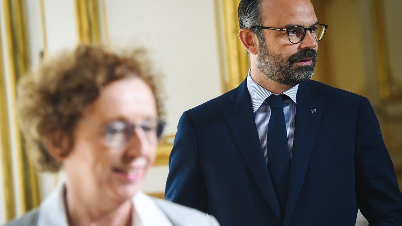 Edouard Philippe et Muriel Penicaud, en juin dernier.