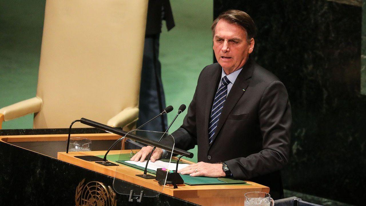 Le président brésilien Jair Bolsonaro a pris la parole depuis la tribune de l'ONU ce mardi.
