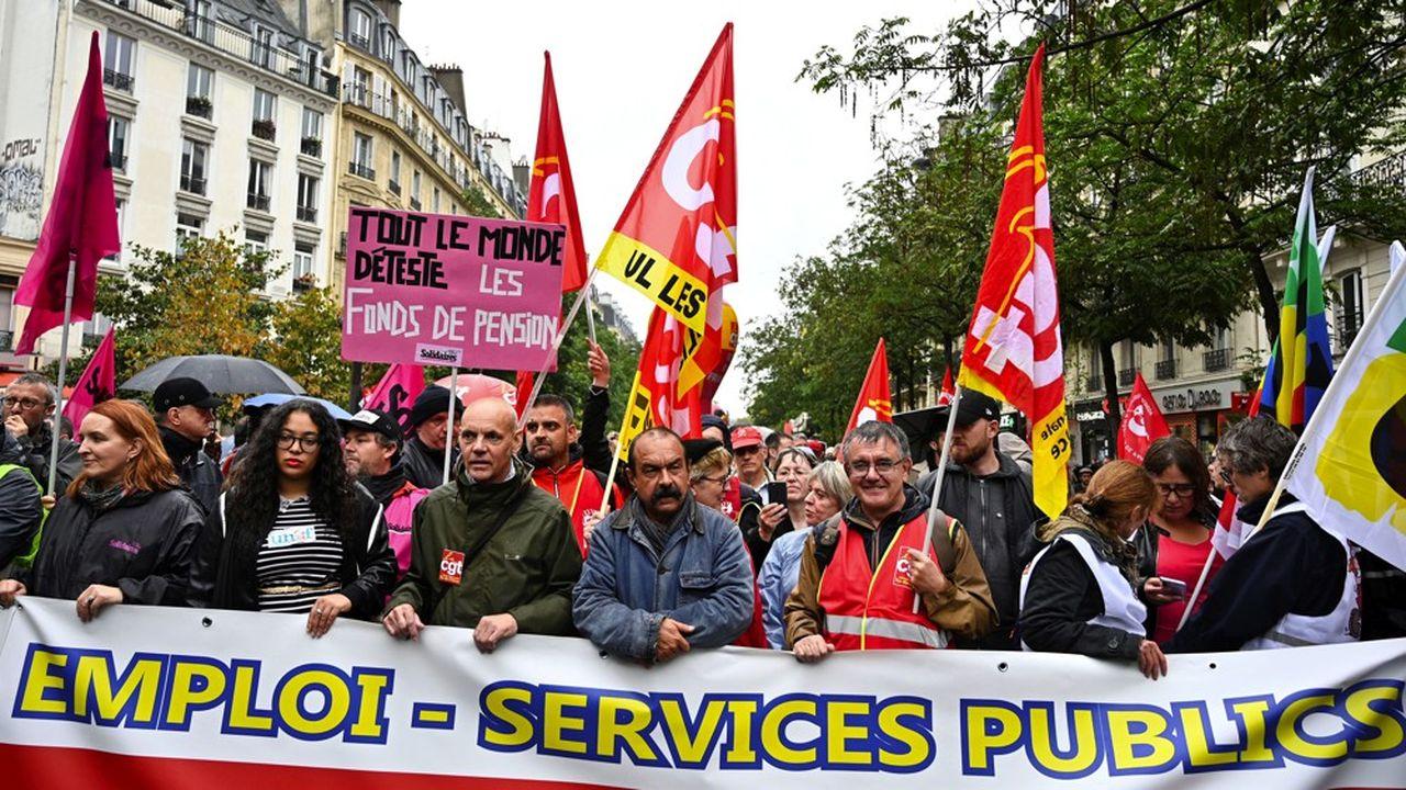 Le secrétaire général de la CGT, Philippe Martinez, lors de la manifestation parisienne de ce mardi.